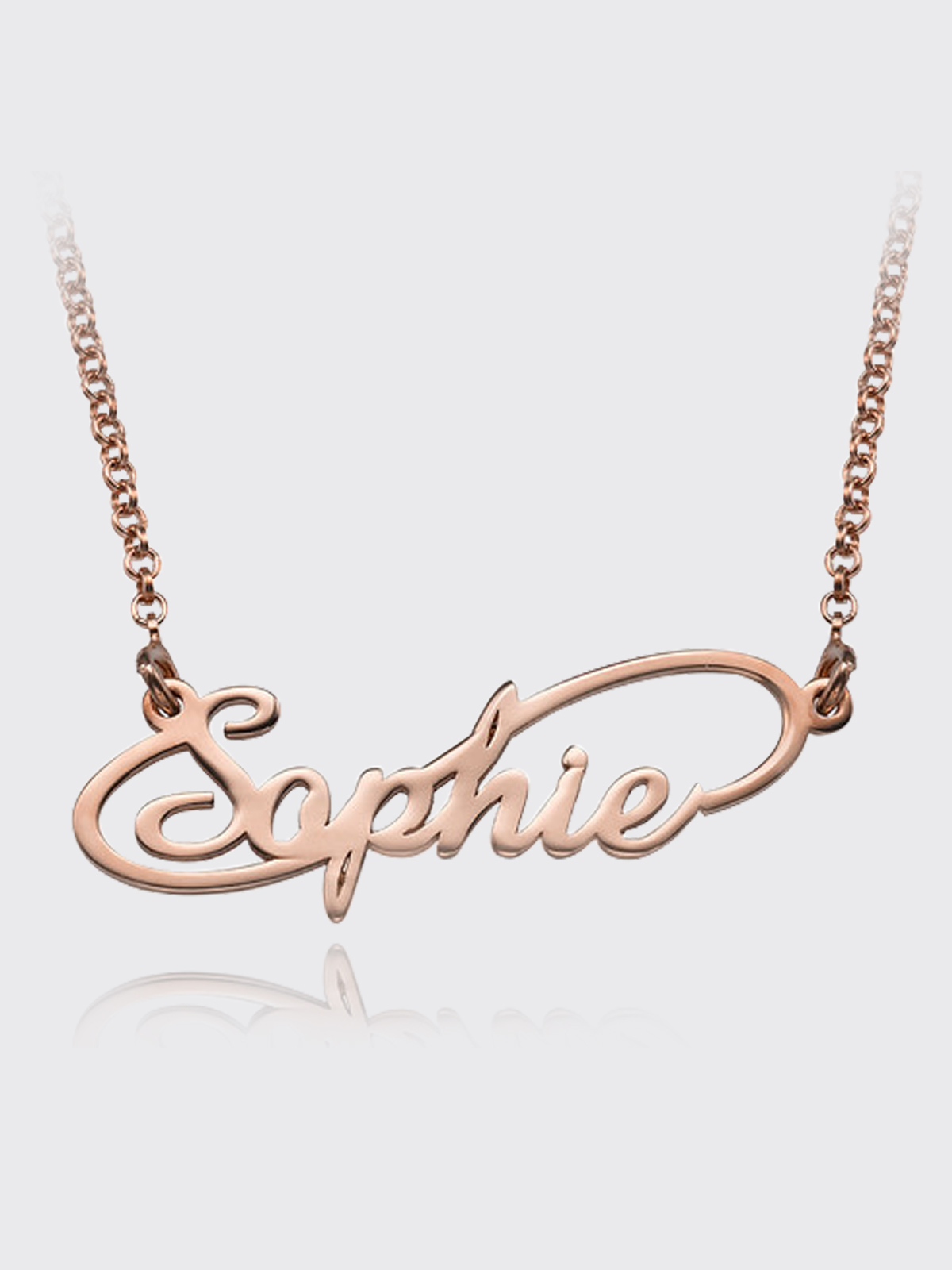 Fashion Necklaces Titanium Steel Rose Gold Tone Forever Infinity Symbol Pendant Necklace for Women